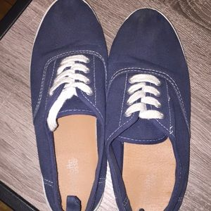 Navy Blue Sneakers Size 8
